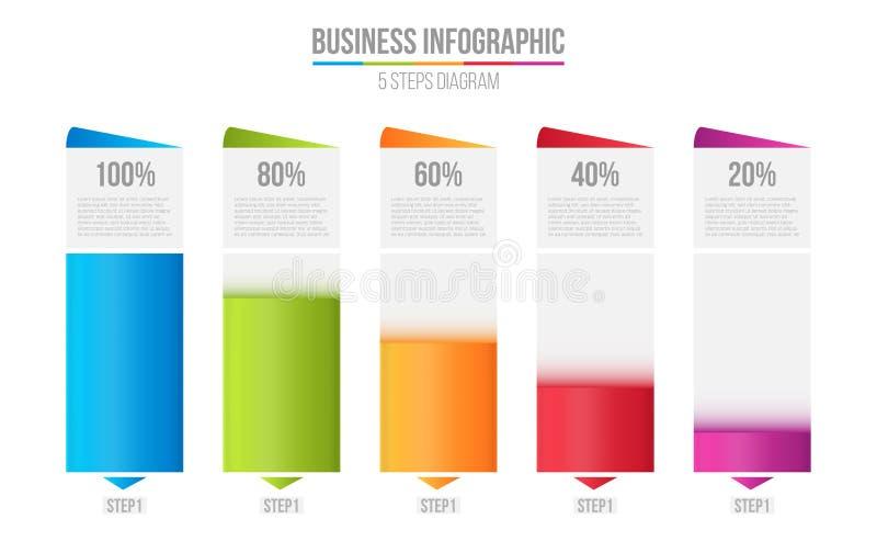 Ejemplo creativo del vector de la carta de barra de las columnas, infographic de la tabla de la comparación aislada en fondo tran libre illustration