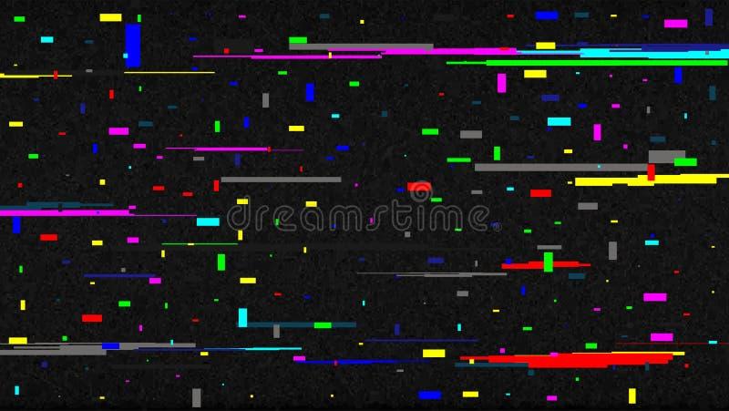 Ejemplo creativo del vector de la textura del ruido de la interferencia de la pantalla de la TV aislado en fondo transparente Dis libre illustration