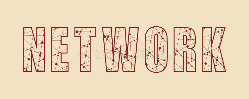 Ejemplo creativo del vector de las letras de la palabra de la red stock de ilustración