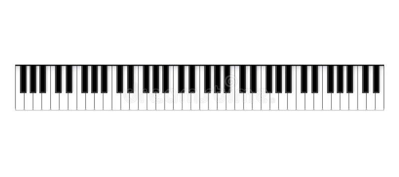 Ejemplo creativo del vector de las llaves del piano Fondo vivo de la música de concierto del jazz del diseño del arte Gráfico abs stock de ilustración