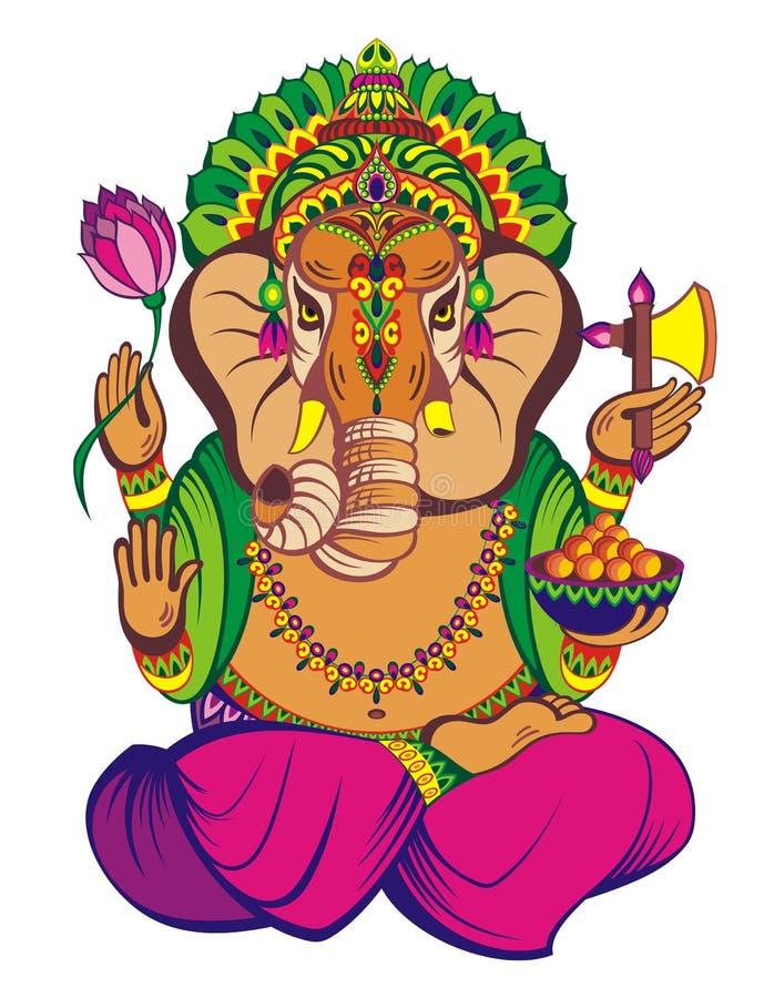 Ejemplo creativo del vector de Lord Ganesha stock de ilustración