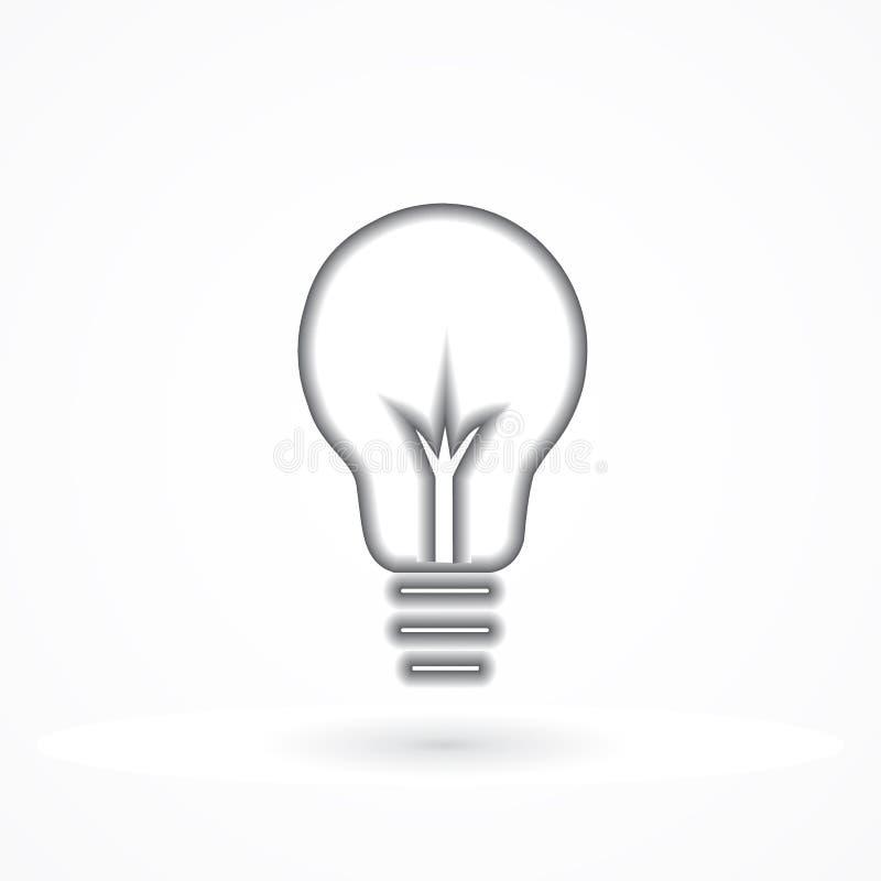 Ejemplo creativo del vector del logotipo del símbolo de la idea de la bombilla stock de ilustración
