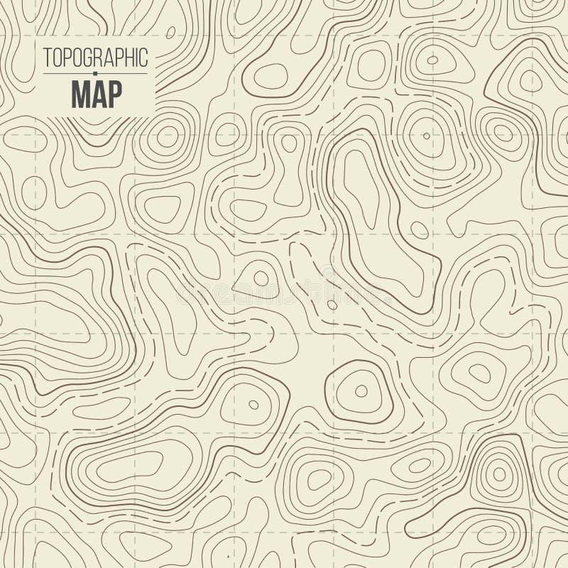 Ejemplo creativo del vector del mapa topográfico Fondo del contorno del diseño del arte Elemento del concepto abstracto y sch grá ilustración del vector