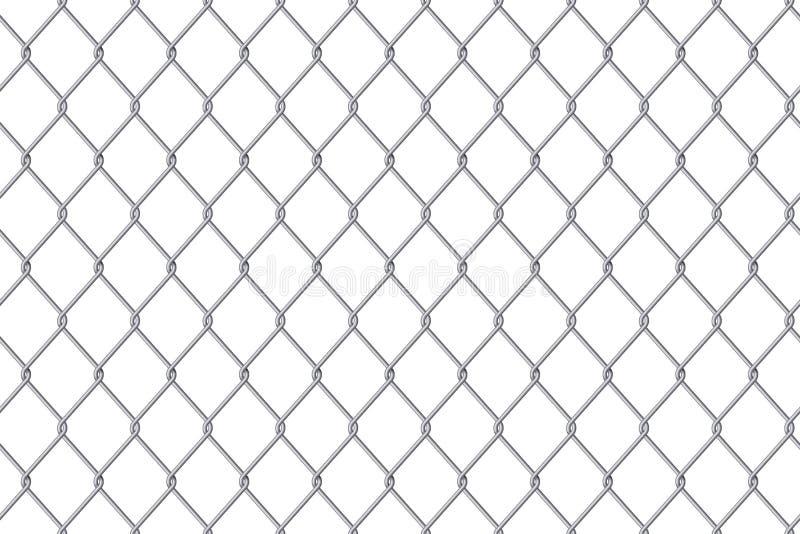 Ejemplo creativo del vector del metal de acero de la malla de alambre de la cerca de la alambrada aislado en fondo transparente P ilustración del vector