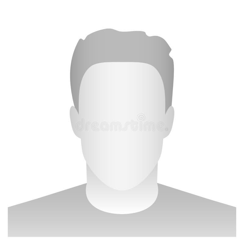 Ejemplo creativo del vector del placeholder del perfil del avatar del defecto aislado en fondo Plantilla gris MES del espacio en  libre illustration