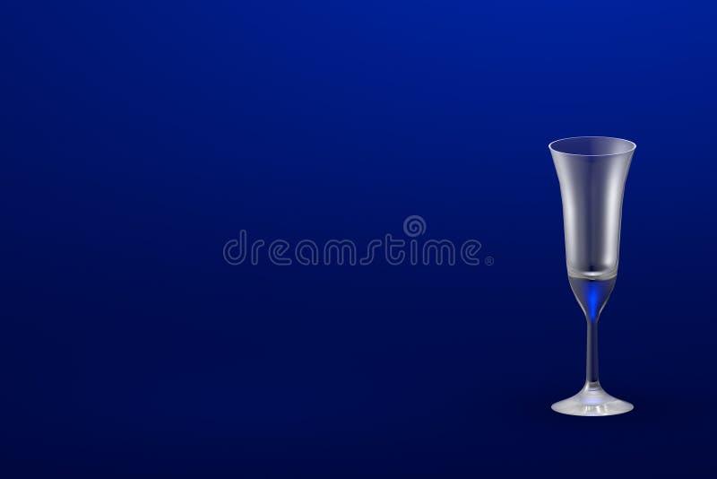 ejemplo 3D de cristal de cócteles acodada multi del café del pousse sobre - maqueta con el lugar para su texto - el vidrio de con ilustración del vector