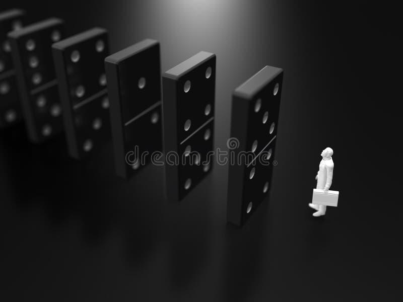 ejemplo 3D de la matanza del dominó libre illustration