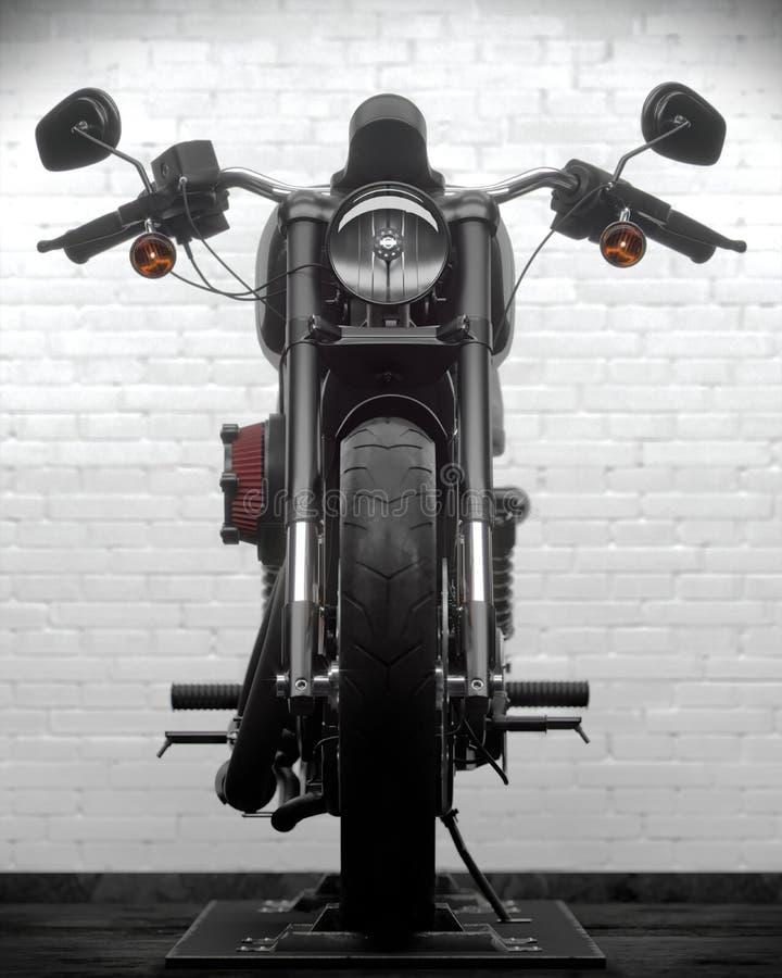 ejemplo 3D de la motocicleta de Harley Davidson stock de ilustración