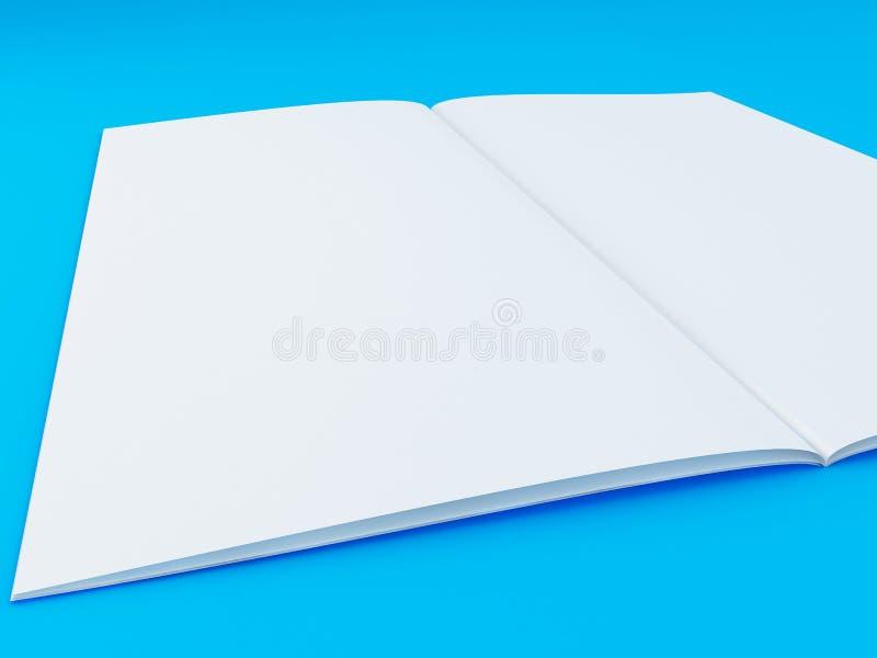 ejemplo 3D de la plantilla del folleto en fondo del color stock de ilustración