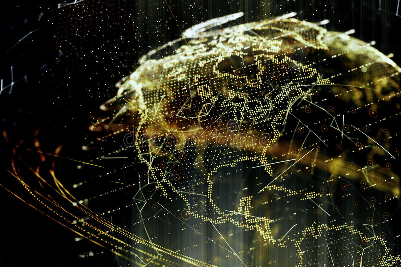 ejemplo 3d de la tierra virtual detallada del planeta libre illustration