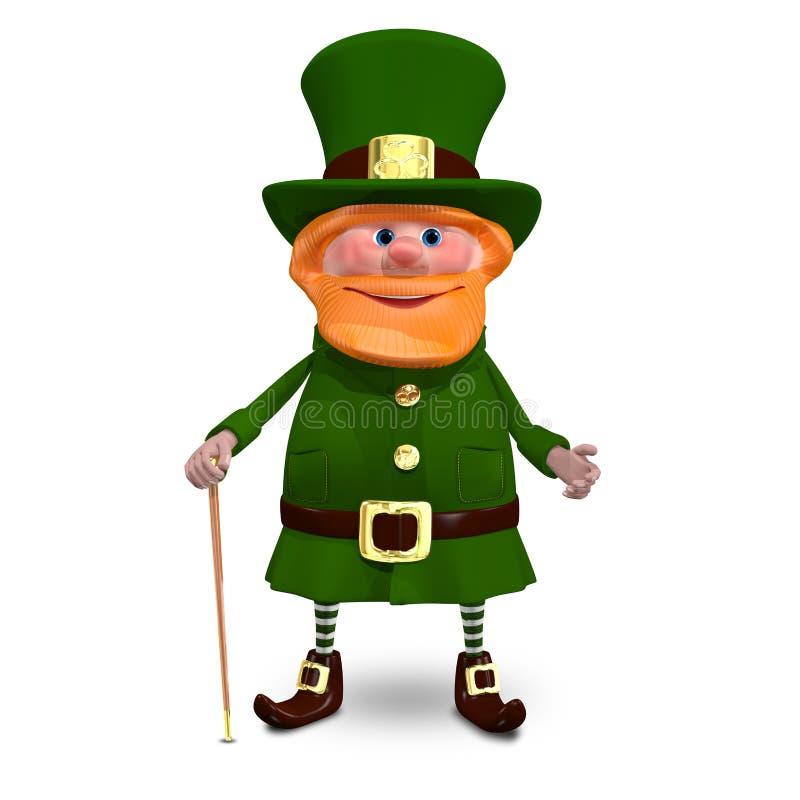 ejemplo 3D de St Patrick ilustración del vector
