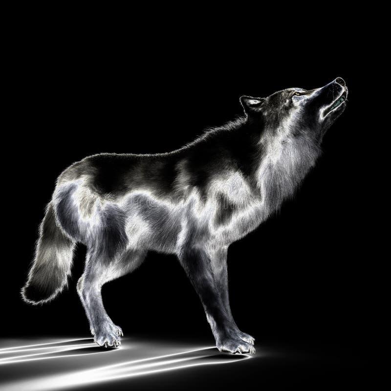 ejemplo 3D de un lobo libre illustration