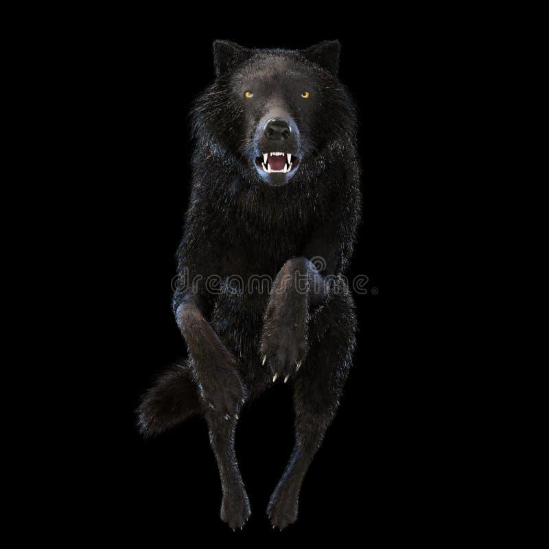 ejemplo 3D de un lobo stock de ilustración