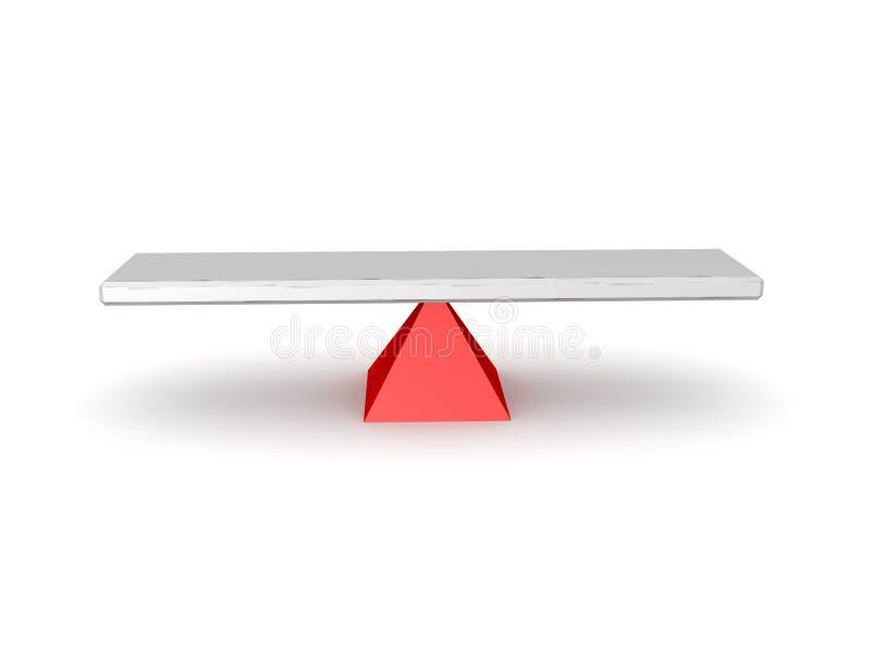 ejemplo 3D de una oscilación stock de ilustración