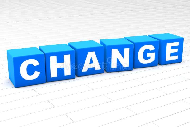 ejemplo 3D del cambio de la palabra ilustración del vector
