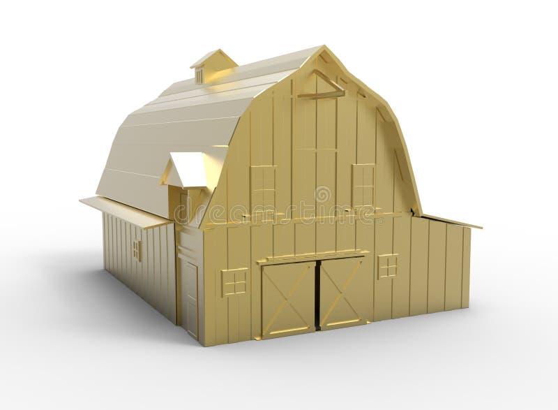 ejemplo 3d del granero stock de ilustración