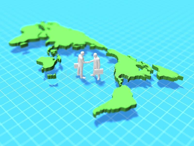 ejemplo 3d del mapa del mundo ilustración del vector