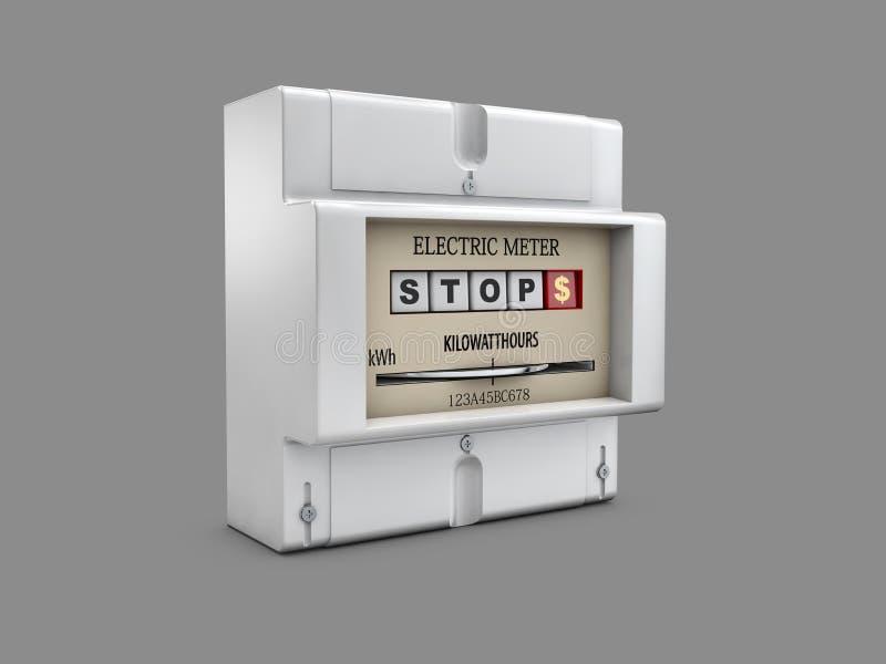 ejemplo 3d del metro eléctrico en fondo gris stock de ilustración