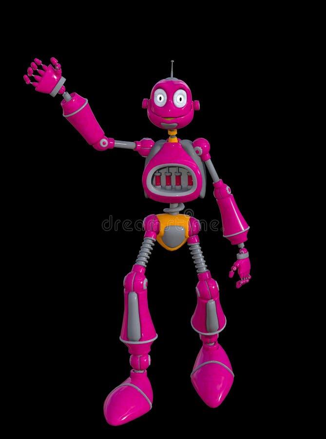ejemplo 3D del robot colorido de la diversión ilustración del vector