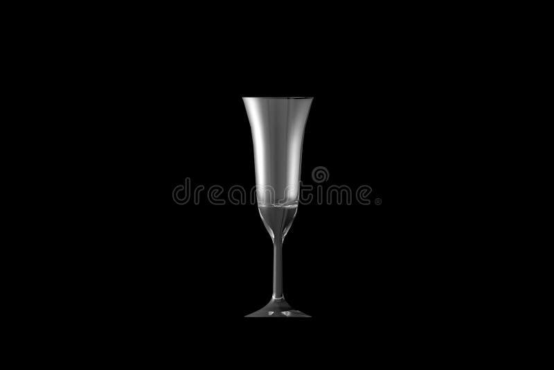 ejemplo 3D del vidrio de cócteles acodado multi del café del pousse aislado en vista lateral negra - vidrio de consumición rendir stock de ilustración