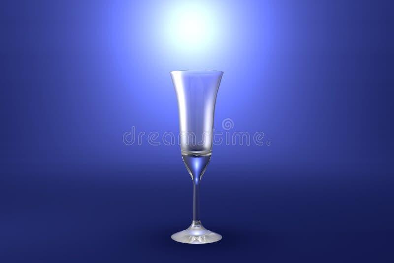 ejemplo 3D del vidrio de cócteles acodado multi del café del pousse en el fondo artístico destacado azul claro - vidrio de consum stock de ilustración