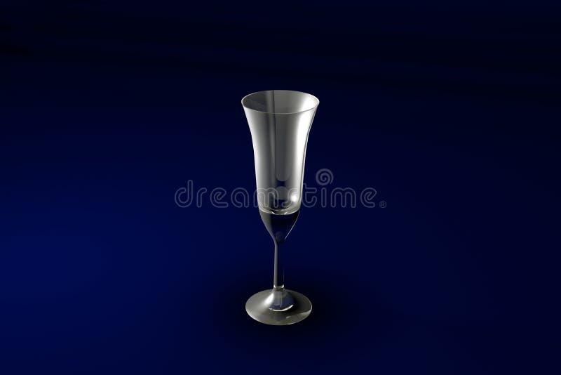 ejemplo 3D del vidrio de cócteles acodado multi del café del pousse en el fondo azul marino del diseño - vidrio de consumición re libre illustration