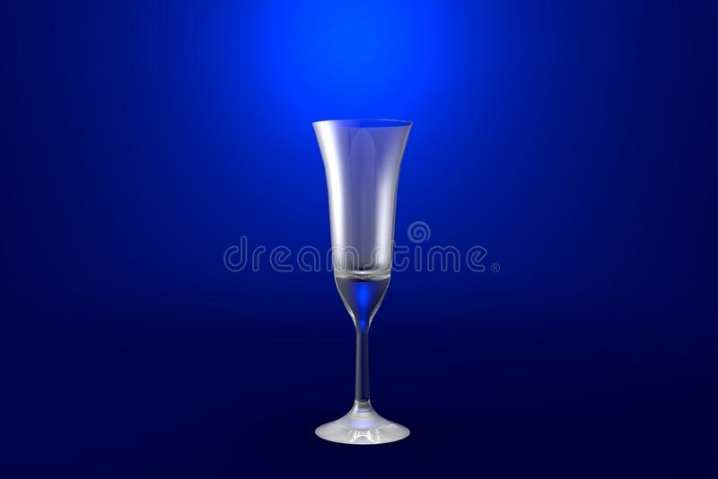 ejemplo 3D del vidrio de cócteles acodado multi del café del pousse en el fondo vivo azul - vidrio de consumición rendir libre illustration