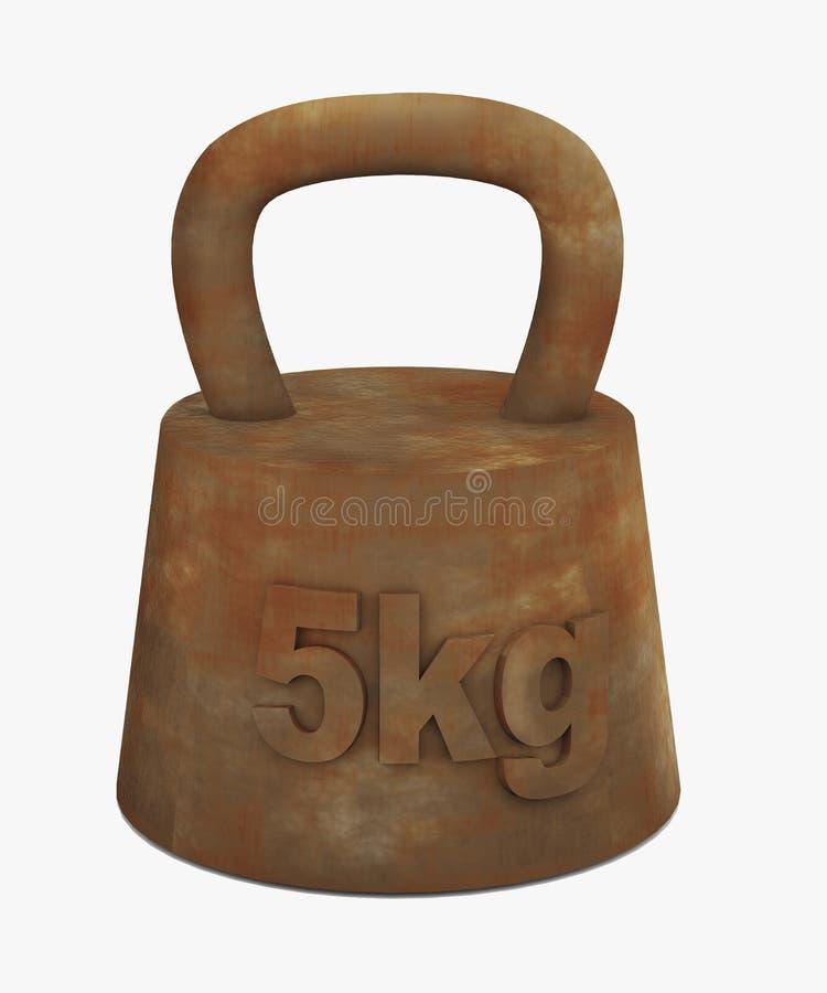 viejo peso oxidado 3d ilustración del vector