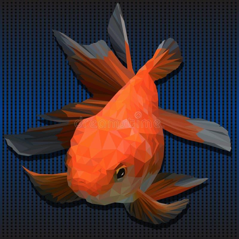 Ejemplo 3D poligonal de pescados de oro foto de archivo libre de regalías