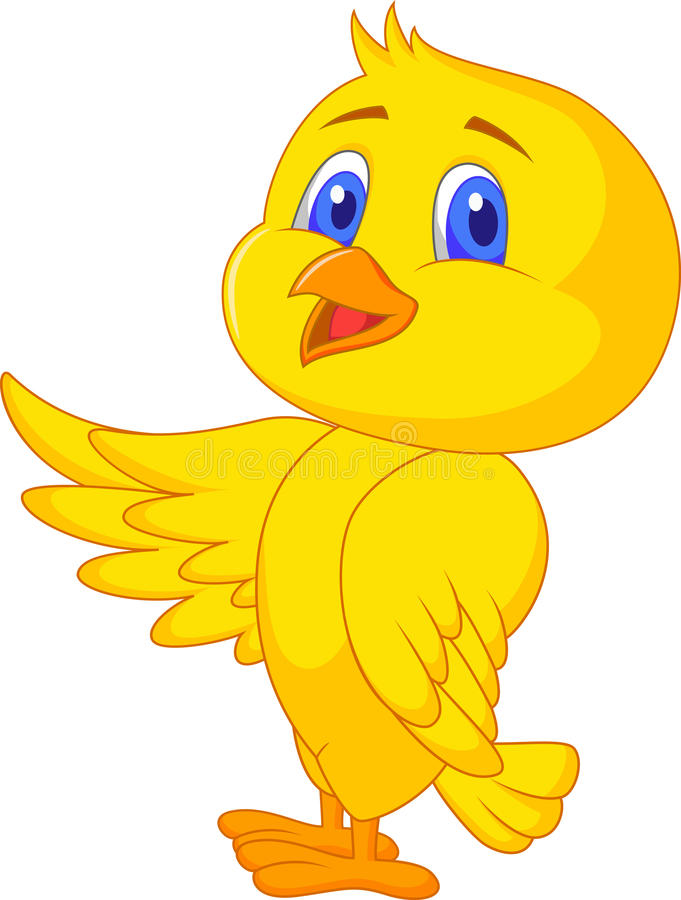 Historieta linda del pájaro de bebé stock de ilustración