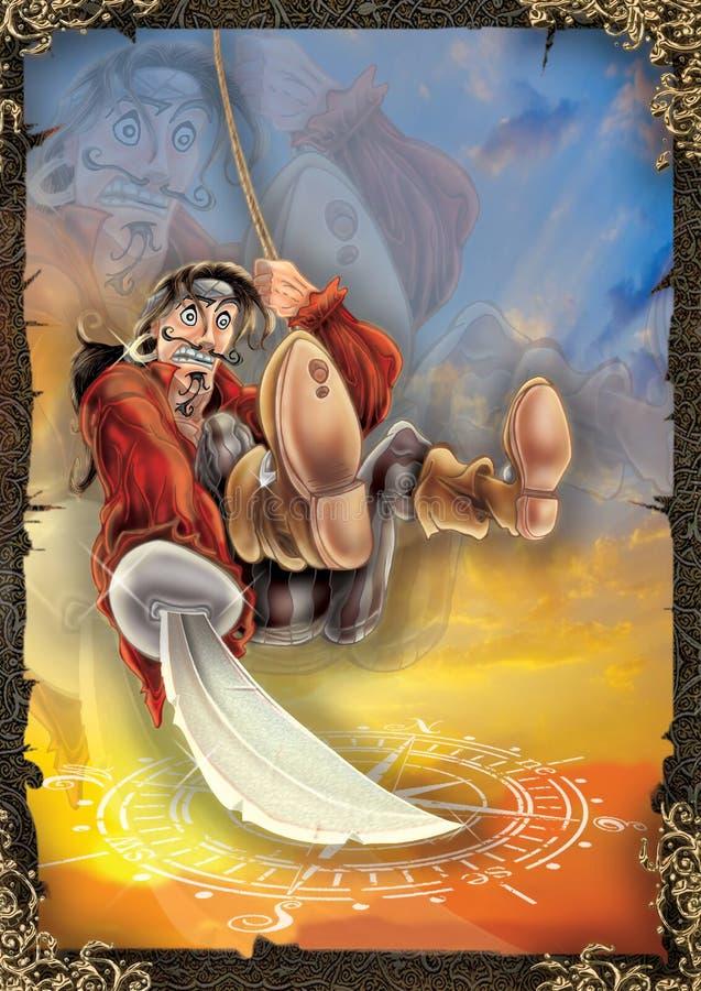 Ejemplo de alta calidad del pirata, cubierta, fondo, papel pintado ilustración del vector