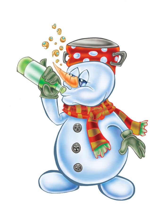 Ejemplo de alta calidad de la mascota de consumición del muñeco de nieve, cubierta, fondo, papel pintado libre illustration