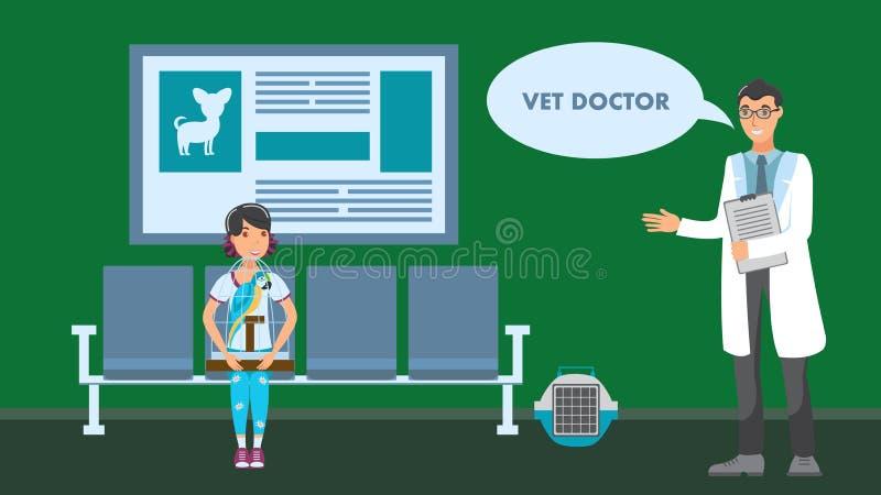 Ejemplo de Appointment Vector Flat del veterinario libre illustration