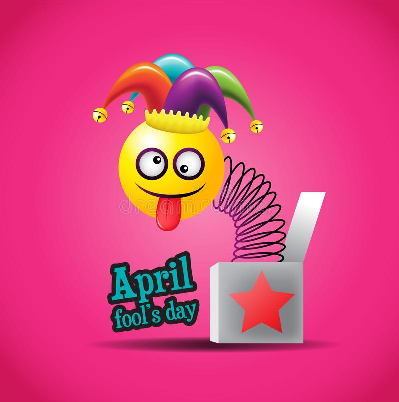 Ejemplo de April Fools Day stock de ilustración