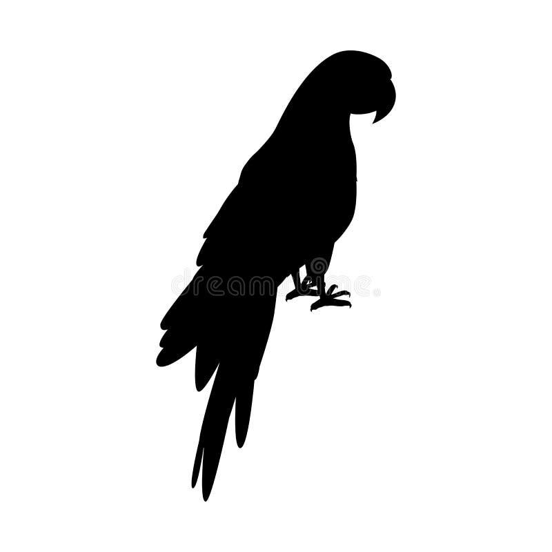 Ejemplo de Ara Parrot Flat Design Vector stock de ilustración