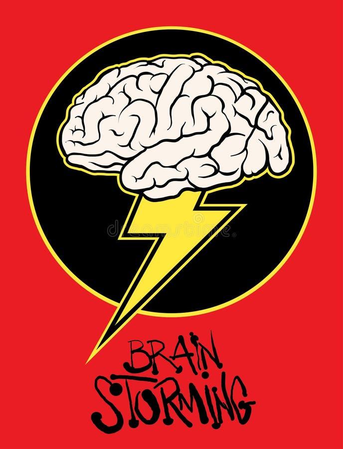 Ejemplo de asalto del vector de la muestra del cerebro stock de ilustración
