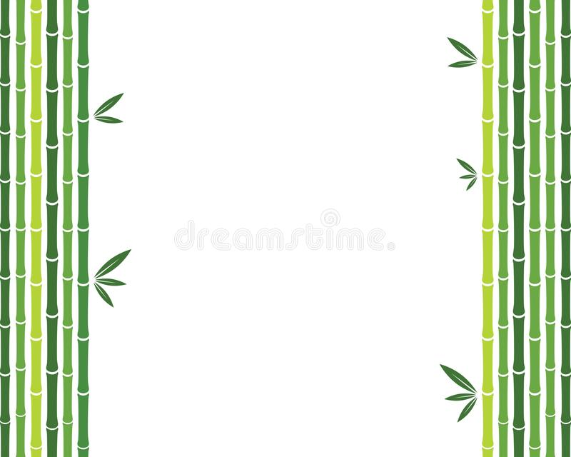 Ejemplo de bambú del icono del vector stock de ilustración