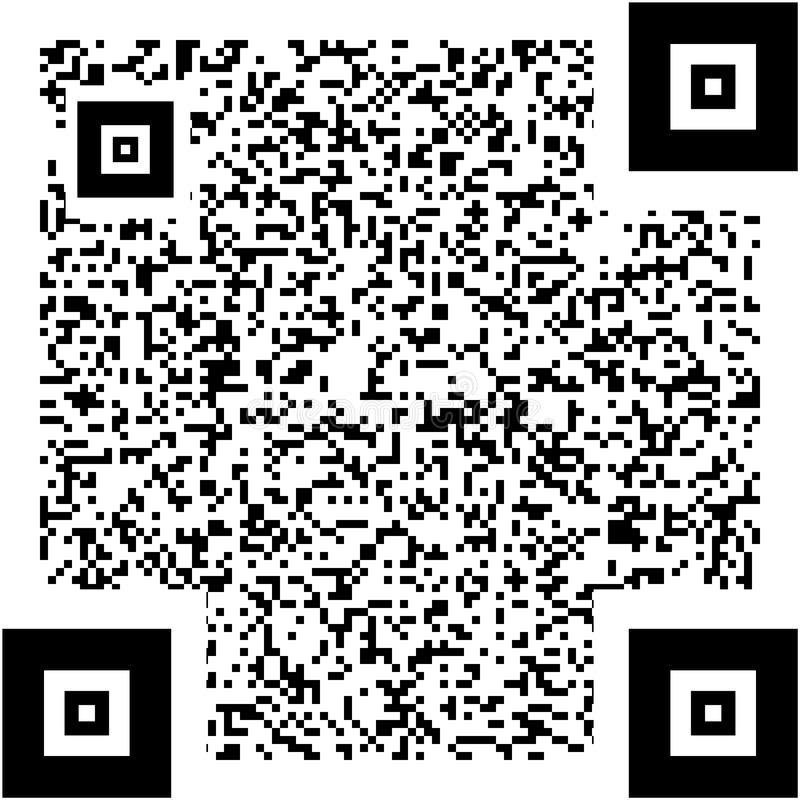 Ejemplo de código de QR ilustración del vector