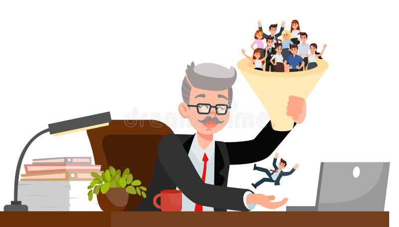 Ejemplo de Choosing Candidate Vector del encargado de la hora stock de ilustración