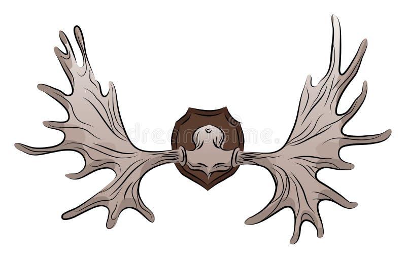 Ejemplo de color de las astas de los alces libre illustration
