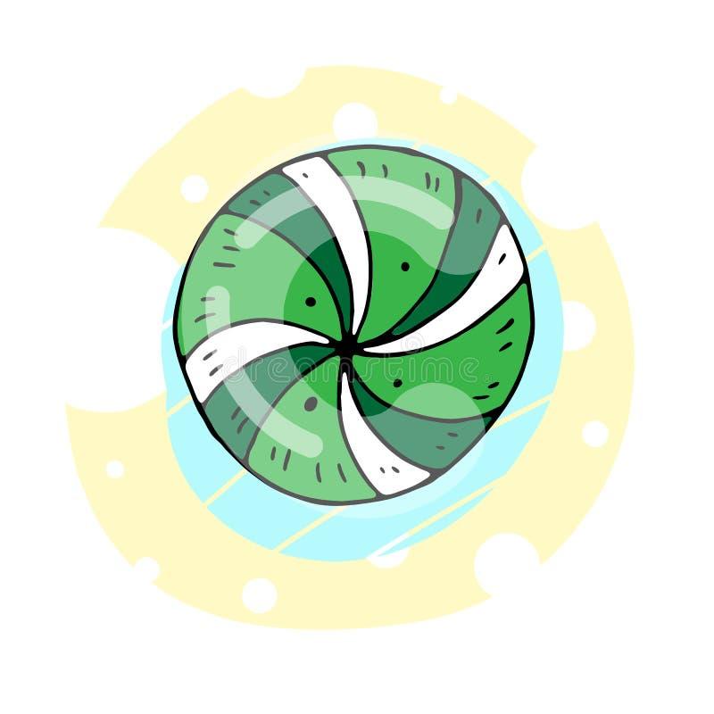 Ejemplo de color lindo del vector de un caramelo dulce con diseño decorativo celebraci?n libre illustration