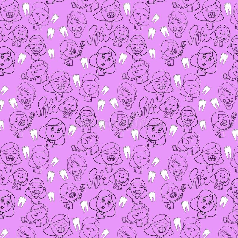 Ejemplo de color, los caracteres de los niños ilustración del vector