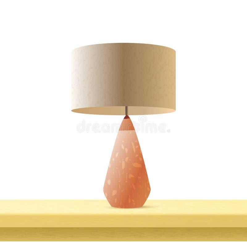 Ejemplo de color realista del vector 3d de la lámpara de mesa stock de ilustración