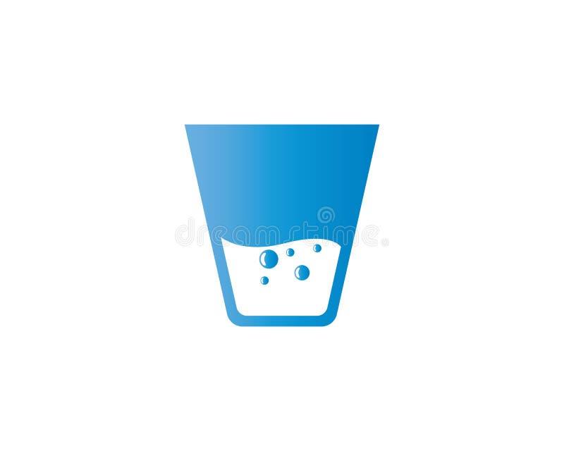 Ejemplo de cristal del vector de consumición stock de ilustración