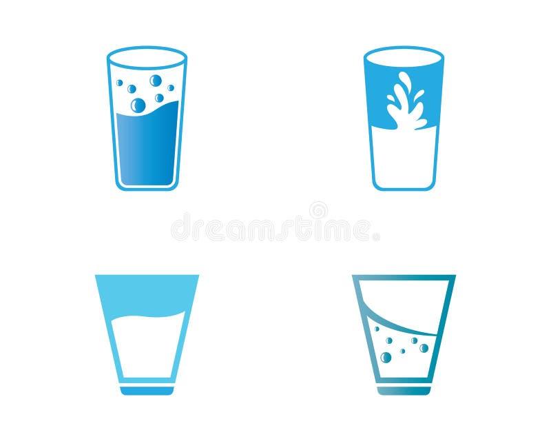 Ejemplo de cristal del vector de consumición libre illustration