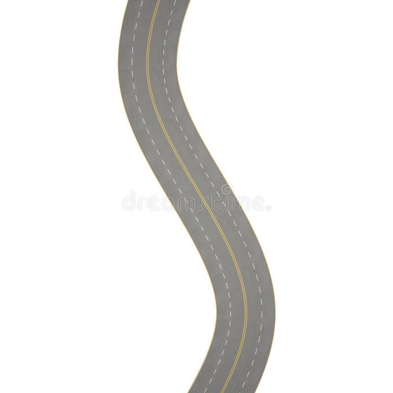 Ejemplo de curvar, camino de doblez, aislado ilustración del vector