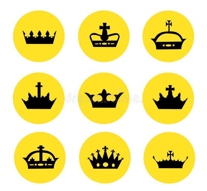 Ejemplo de diversas coronas libre illustration