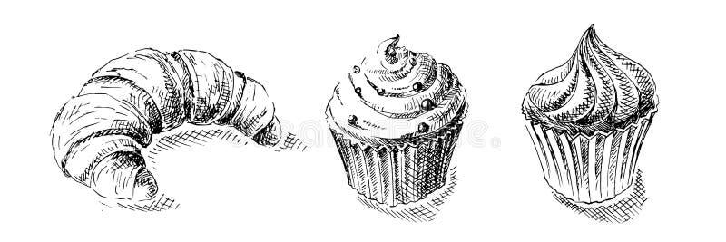 Ejemplo de dulces stock de ilustración