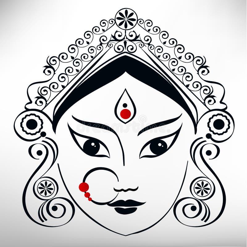 Ejemplo de Durga stock de ilustración