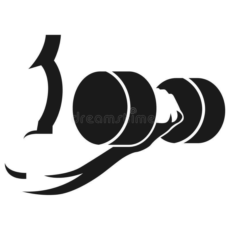 Ejemplo de elevación del vector de los pesos por los crafteroks stock de ilustración